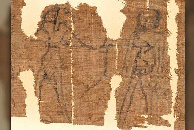 """Gelelim büyüye... Çizimde de gördüğünüz üzere Mısır'ın çakal başlı Tanrısı Anubis ve """"yataktan kaçan"""" Kephalas karşı karşıya."""