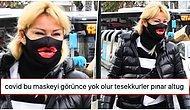 Pınar Altuğ'un, Deniz Akkaya Tasarımı Olan Dev Dudak Baskılı Maskesi Dillere Düştü