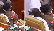 Gana Parlamentosu'nda Erkek Vekilin Kucağına Oturan Kadın Vekilin Görüntüleri Olay Yarattı