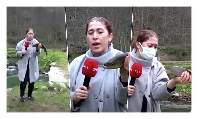 Muhabirin çekim sırasında 'lütfen ölme' demesi de dikkat çekti
