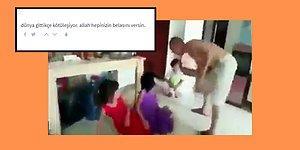 Çinli Bir Erkeğin Uygur Türkü Çocukları Dövdüğü İddia Edilen Can Sıkıcı Görüntüler