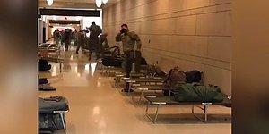 İlginç Görüntüler Devam Ediyor! ABD Kongre Binasına Askeri Sedye Yığını