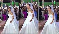 Kendi Düğününde Göbek Atarken Şarkı Değişince Bir Anda 'Anısı Olan Şarkıya Denk Gelmiş' Gibi Durgunlaşan Gelin