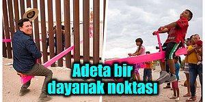 ABD ve Meksika Sınırı Arasına Yapılan Eşsiz Pembe Tahterevalliler '2020 Yılın Tasarımı' Unvanını Kazandı!
