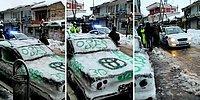 Kardan Araba Yapıp Trafik Polisini Kandırmayı Başaran Yurdum İnsanı