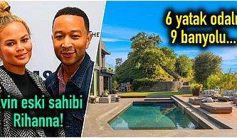 Chrissy Teigen ve John Legend Çiftinin Beverly Hills'teki 17.5 Milyon Dolarlık Göz Alıcı Malikanesi