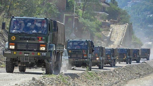 Sınır bölgesinde askeri inşaatlar