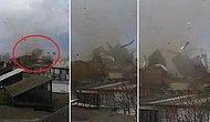 Bursa'da Fırtına Ortalığı Savaş Alanına Çevirdi: Çatılar Uçtu Araçlar Zarar Gördü