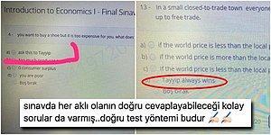 """Marmara Üniversitesi'nin Final Sınavında Yer Alan """"Tayyip'e Sor"""" Seçeneği Gündeme Bomba Gibi Düştü"""