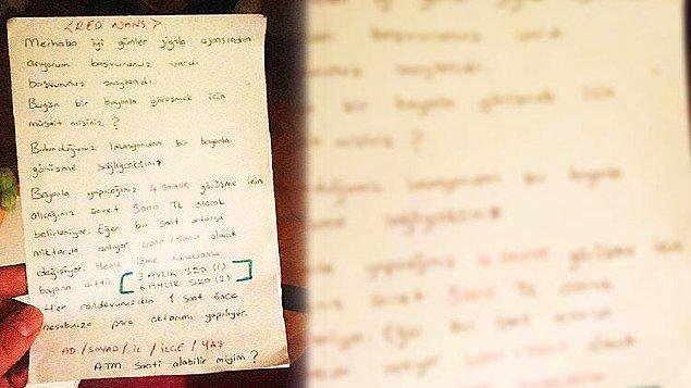 Polis şebekenin telefon görüşmelerinde kullandığı notları da buldu.