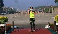 Myanmarlı Bir Kadın Sabah Aerobik Yaparken Farkında Olmadan Darbenin İlk Anlarını Kaydetti İddiası