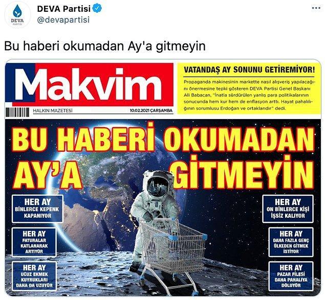 Makvim gazetesinin manşeti şöyle 📌