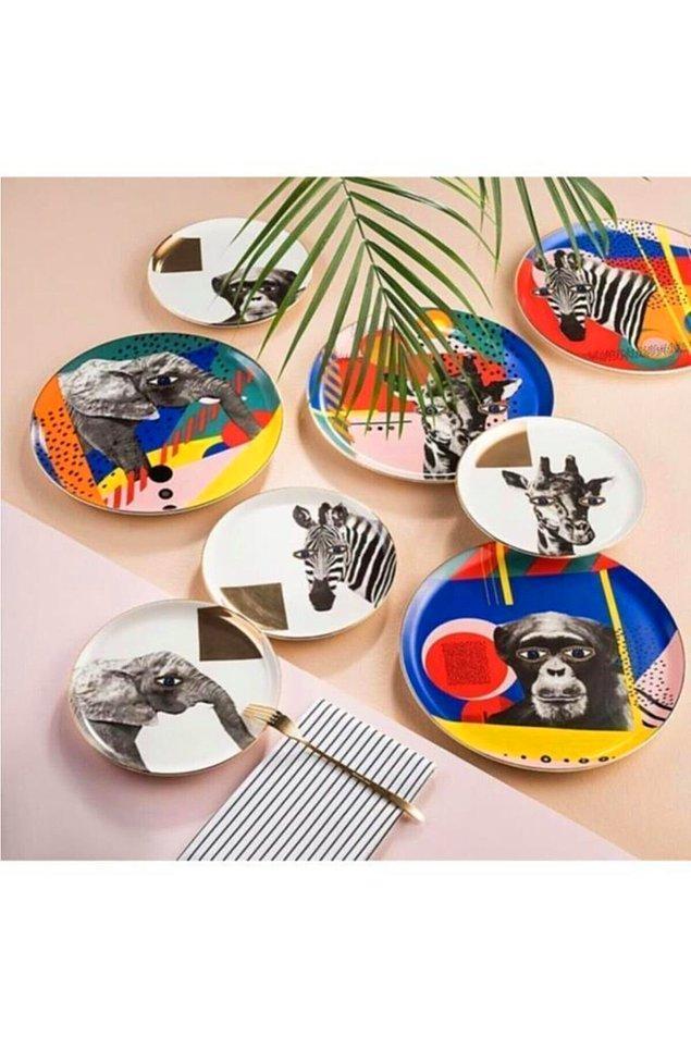 8. Demode tabaklara elveda! Artık rengarenk masalar bizleri bekliyor.