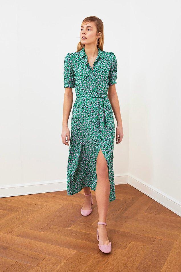 3. Düğmelerini istediğiniz gibi ayarlayabileceğiniz bu elbise ile istediğiniz gibi uçuşun.