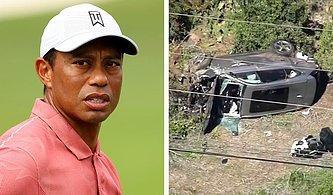 Aracı Takla Attı... Trafik Kazası Geçiren Tiger Woods Hastanede Ameliyata Alındı!
