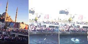 Eminönü'nde Toplanan Binlerce Suriyelinin Denize Atlama Yarışması Yaptığı İddiası