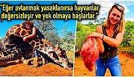 Sevgililer Günü Hediyesi Olarak Katlettiği Zürafanın Kalbini Söken ve Bunu da Böbürlenerek Paylaşan Kadın