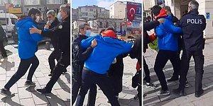 Polislerle Birbirine Giren Gencin Maskesi Çenesinde Olduğu İçin Kesilecek Olan Cezaya Tepki Gösterdiği İddiası