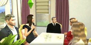 Sadakatsiz Dizisinin Efsane 'Kocam 2 Senedir Sizin Kızınızla Yatıyormuş' Sahnesi Sims'e Uyarlandı