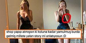 Paylaştığı Elbiseli Fotoğrafına Photoshop Diyen Kullanıcılara Attığı Video ile Ayar Veren Kadın