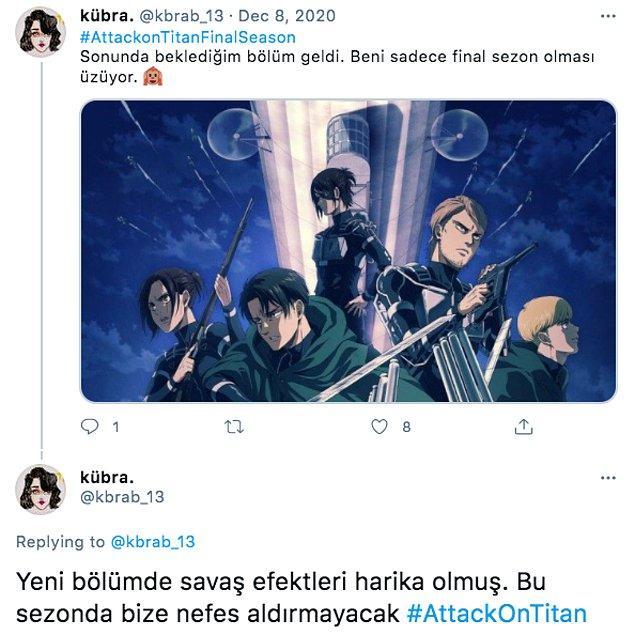 'Biraz da insanlar bu anime hakkında ne düşünüyorlar onlara da bakalım' diyenleri de böyle: