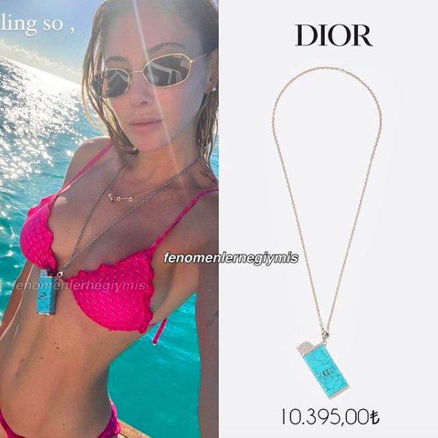 Gelelim şu anlamsız kolyeye. Dior marka çakmak kolyesinin değeri 10 bin lira...