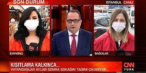Eminönü'nden Canlı Yayın Yapan CNN Türk Muhabirine Küfür: 'Ne Çekiyorsun A...K... Ne Çekiyorsun?'