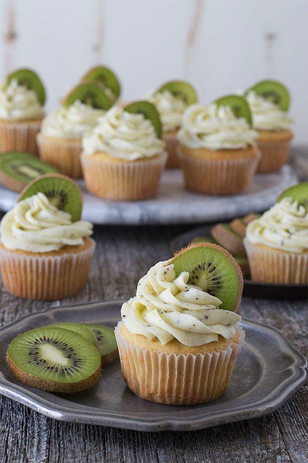 7. Kivi Cupcake: