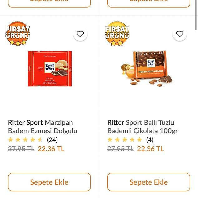 Ne yazık ki bu çikolataların tanesi Türkiye'de 22 TL civarı.