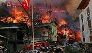 60'a Yakın Ev Yandı! Artvin'deki Köy Yangını Kontrol Altına Alındı