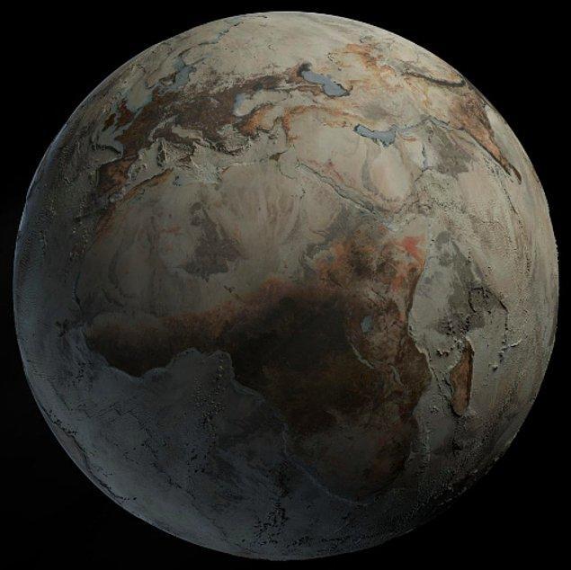 5. Dünya üzerinde hiçbir su kaynağı olmasaydı Dünya işte böyle görünürdü: