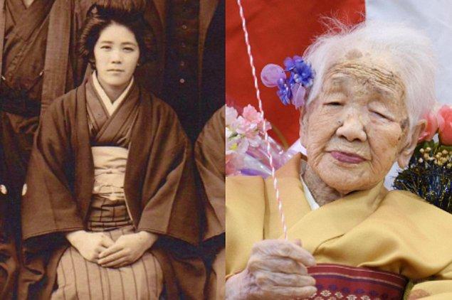 20. Dünyada bilinen en yaşlı insan 118 yaşındaki Kane Tanaka'dır.