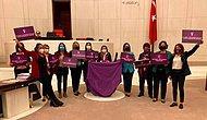 İstanbul Sözleşmesi İçin Meclis'te Mor Örtü Açan CHP'li Vekile 'Uyarı' Cezası