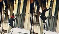 Gündüz Vakti 'Örümcek Adam' Gibi Tırmandığı Binada Hırsızlık Yapan Şahıs