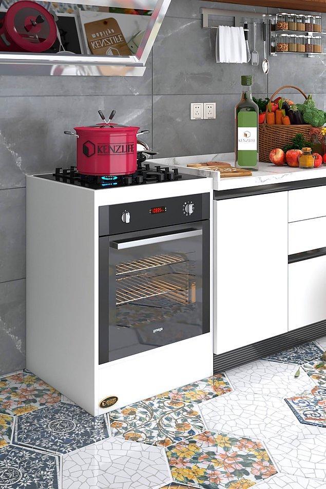 16. Ankastre fırın beğendiniz ama mutfağınız buna uygun değilse bu modül kabinler tam size göre demektir.