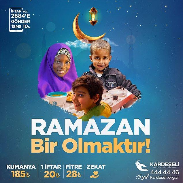 Ramazan Ayı, dayanışma ve yardımlaşma ayıdır. Bu ay boyunca birçok kişi, ihtiyaç sahiplerine maddi ve manevi yardımlarda bulunarak dini öğreti ve geleneklerimizi birçok kişiye yeniden hatırlatıyor.