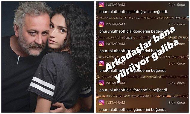 8. Senarist Onur Ünlü, sevgilisi Hazar Ergüçlü'nün sosyal medya hesabındaki tüm fotoğraflarını beğenince Ergüçlü'den esprili bir paylaşım geldi!