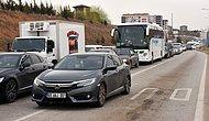 43 İlin Bağlantı Noktasında Trafik Kilitlendi