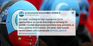 Çin Büyükelçiliği'nin Yavaş ve Akşener'in Doğu Türkistan Paylaşımına Yanıtı Tepkilerin Odağında