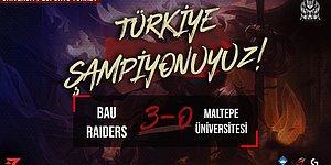 Üniversitelerarası League of Legends Türkiye Şampiyonu Bahçeşehir Üniversitesi!