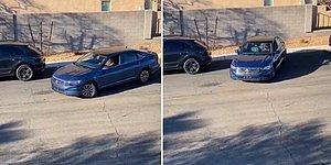 2 Aracın Arasına Park Etmeye Çalışan Şoföre Yardımcı Olan Kadın, En Son Yaptığı Hareket ile Şoke Etti