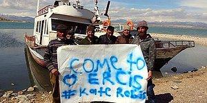 Yarışmada Birinci Olan Van Fotoğrafını Çekmişti: Ercişli Balıkçılardan Astronot Kate Rubins'e Pankartlı Davet
