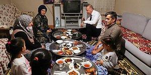 Bir Ailenin Evinde İftara Katılan Cumhurbaşkanı Erdoğan'ın Yer Sofrasındaki Görüntüleri Tepki Çekti