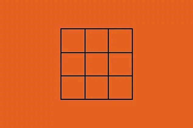 9. Son olarak, bu görselde kaç tane kare vardır?