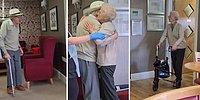 Karantina Nedeniyle Bir Süredir Görüşemeyen Yaşlı Çiftin Birbirlerine Kavuştukları Andaki Efsane Mutlulukları