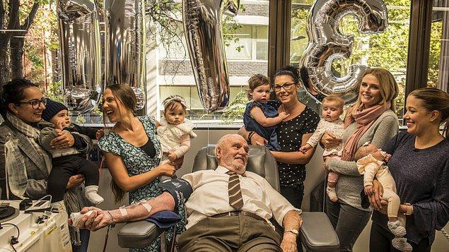 8. James Harrison adlı bir adam, kan vererek bugüne kadar 2 milyon insanı kurtarmıştır.