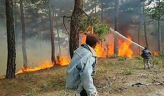 Denizli'de Orman Yangını, 3 Saatte Söndürüldü; 4 Hektar Alan Yandı