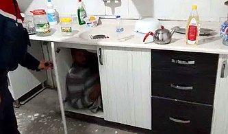 Polisten Suçüstü! Mutfak Dolabında Yakalandı