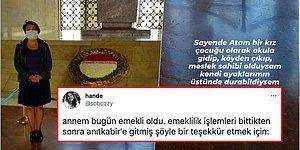 Emekliliği Sonrası Ata'sına Teşekkür İçin Soluğu Anıtkabir'de Alan Annenin Notu Herkesi Duygulandırdı