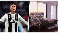 Cristiano Ronaldo'nun Lizbon'daki 6 Milyon Sterlinlik Evi İçin Alınan ve Vinç Yardımıyla Taşınan Devasa Yatağı
